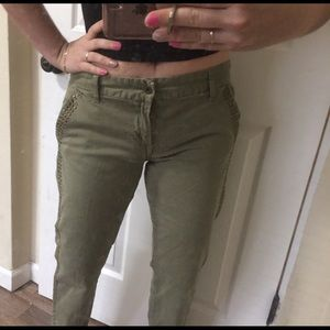 Green Military style Lucky Brand Pants